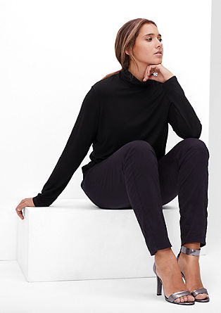 Viscose top with a polo neck from s.Oliver