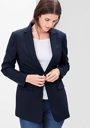 Fitted pinstripe blazer from s.Oliver