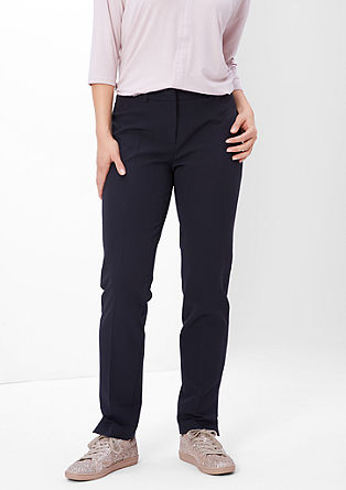 Business trousers with waist pleats from s.Oliver