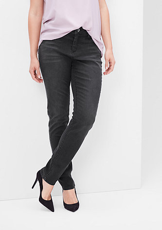 Regular: Schmale Stretch-Jeans