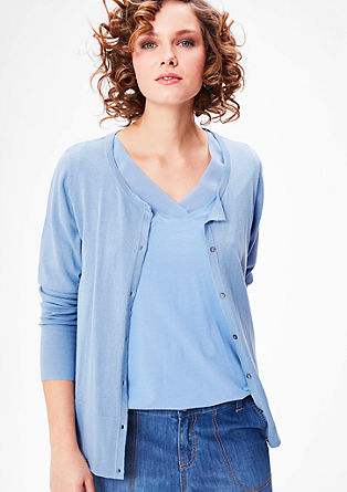 Lightweight cardigan with a button placket from s.Oliver