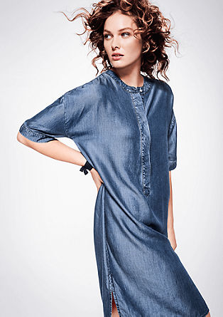 Soepel vallende denim jurk van Tencel