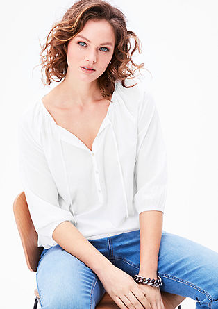 Feminine blouse with an elasticated waistband from s.Oliver