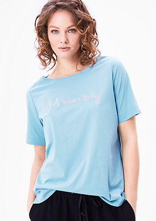 T-shirt with a statement print from s.Oliver