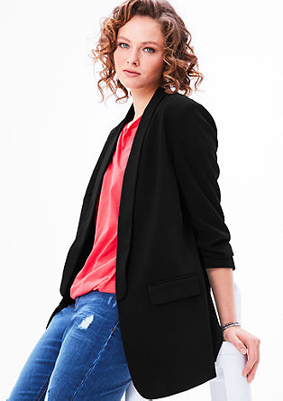 Blazer with pushed-up sleeves from s.Oliver