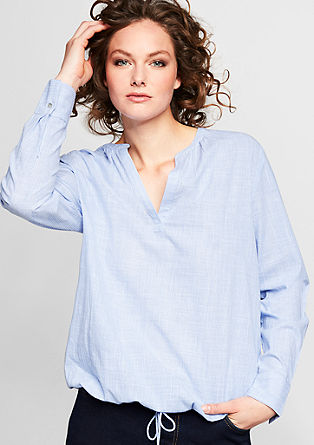 Cotton blouse with lacing from s.Oliver