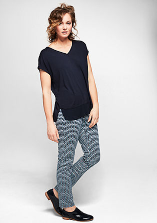 V-neck top in a layered look from s.Oliver