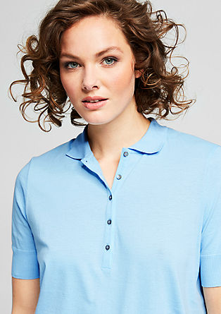 Polo shirt with mother-of-pearl buttons from s.Oliver