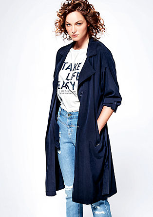 Flowing, oversized trench coat from s.Oliver