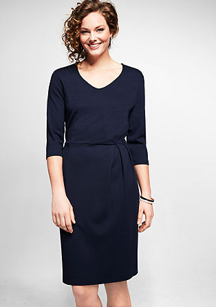 Jersey dress with a draped effect from s.Oliver
