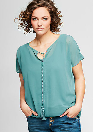 O-shaped, crêpe blouse top from s.Oliver