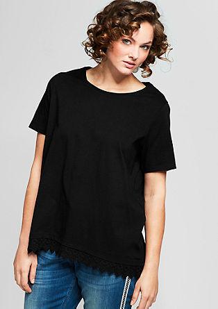 T-Shirt mit Zierborte