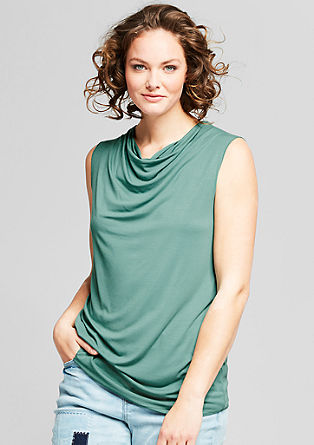 Top with a cowl neckline from s.Oliver