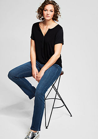 Curvy fit: slim fit stretchjeans