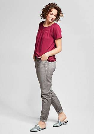 Fancy Fit: trousers with a washed finish from s.Oliver