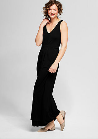Viscose jersey maxi dress from s.Oliver
