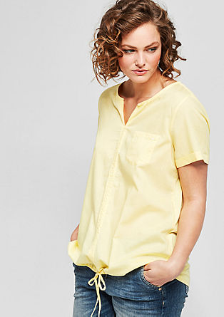 Blouse top with drawstring tunnel from s.Oliver