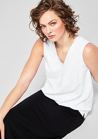 Blouse top with a V-neckline from s.Oliver