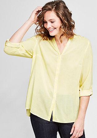 Garment-dyed blouse met pailletjes
