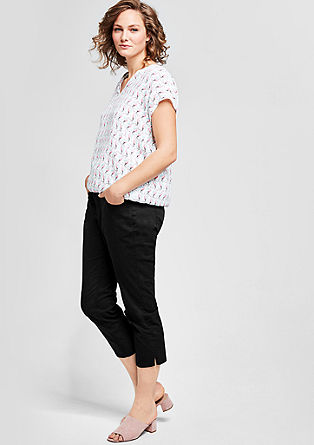 Fancy Fit: 7/8 stretch trousers from s.Oliver