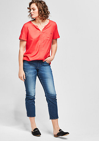 Regular Slim: 7/8-Stretchjeans