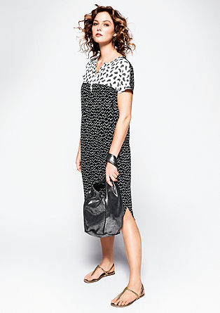 Dress with a black & white print from s.Oliver