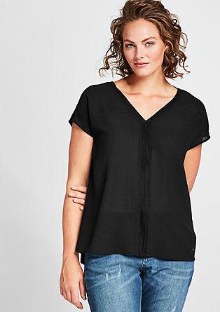 T-Shirt mit Crêpe-Front