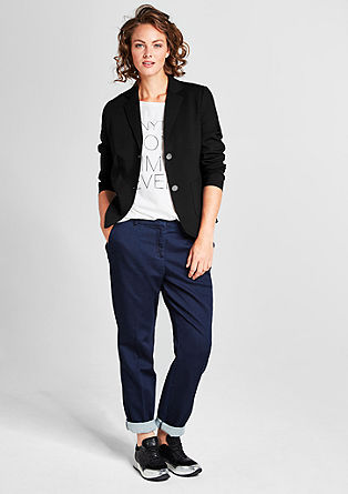 Blazer met double face look