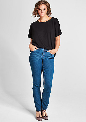 Curvy Fit: Used-Stretchjeans