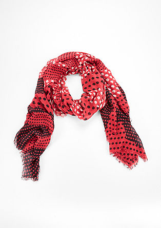 XXL scarf with a polka dot pattern from s.Oliver