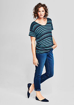 Viscose top with stripes from s.Oliver