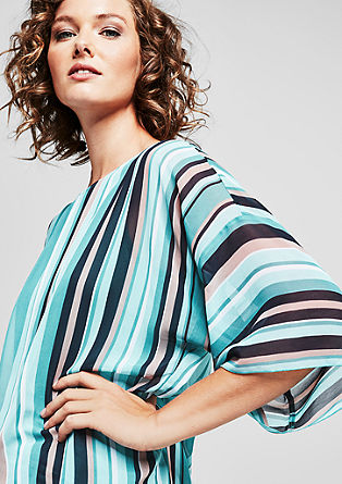 Crêpe batwing top with stripes from s.Oliver