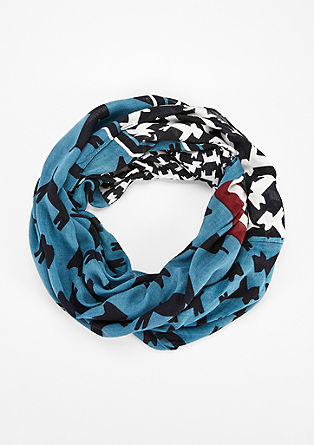 Snood with dog motif print from s.Oliver