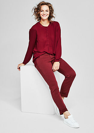 Regular slim: coloured stretchbroek