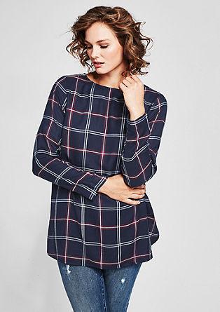 Flanellen blouse met herfstachtig ruitdessin