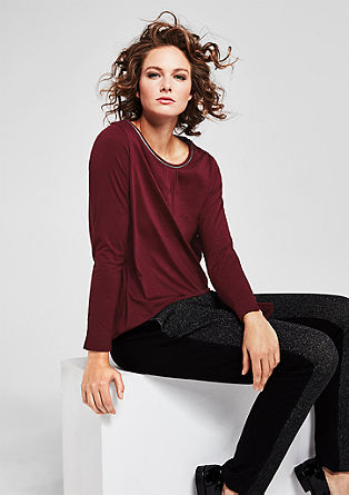Long sleeve top with glittery piping from s.Oliver