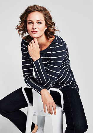 Soft striped long sleeve top from s.Oliver