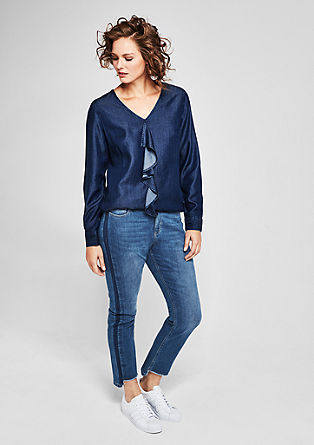 Curvy Slim: Jeans with frayed hems from s.Oliver