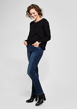 Curvy Slim: jeans with a washed finish from s.Oliver