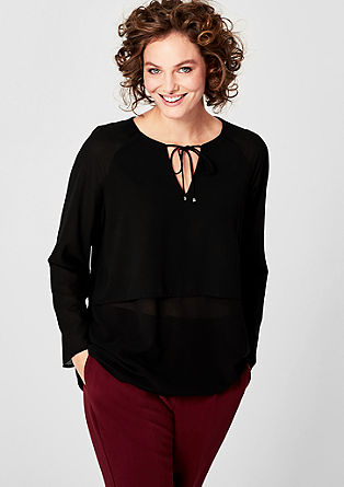 Gelayerte Crêpe-Bluse