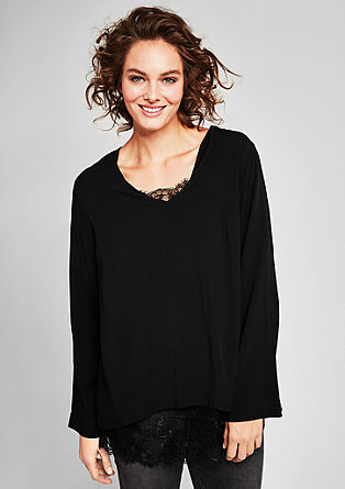 2-in-1 blouse in laagjeslook