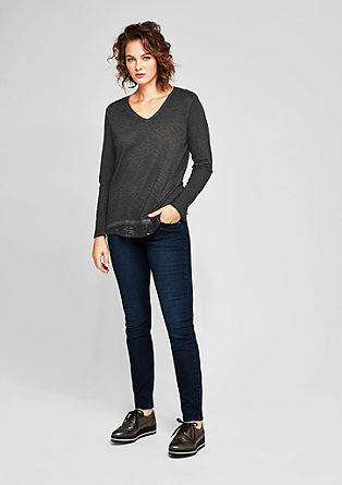 Longsleeve mit Glamour-Layering