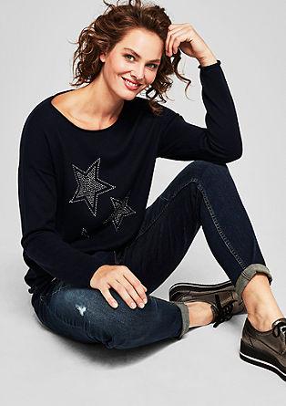 Tanek pleten pulover z zvezdami iz kovic