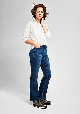 Curvy Flare: Bootcut-Jeans