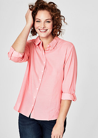Chambray-Bluse im Coloured-Look