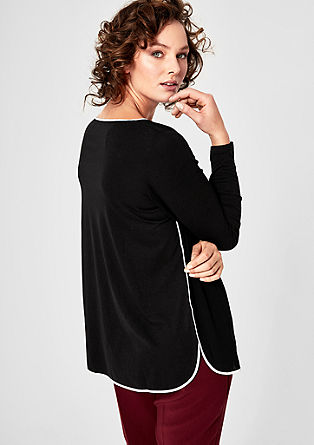 Piped blouse top from s.Oliver