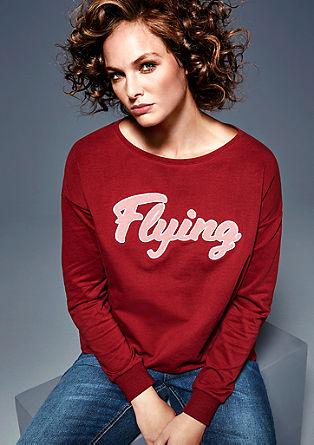 Sweatshirt met flockprint