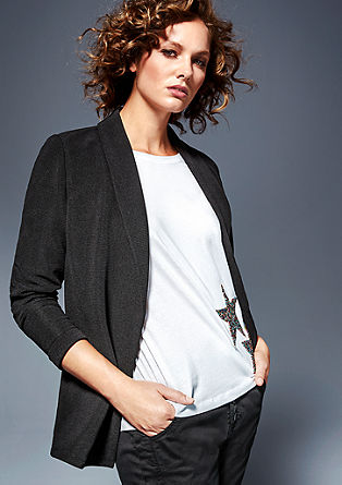 Casual textured blazer from s.Oliver