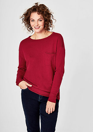 Fine knit jumper with glitter details from s.Oliver