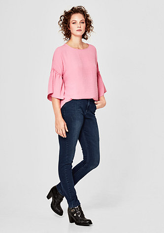 Curvy Extra Slim: Dunkle Stretchjeans